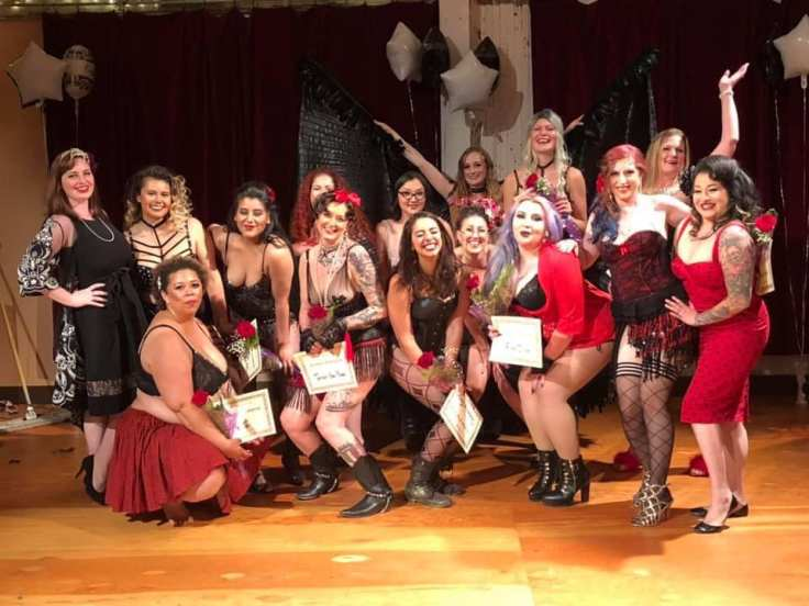 Va Va Voom Burleque Bootcamp Graduating Class of 2019